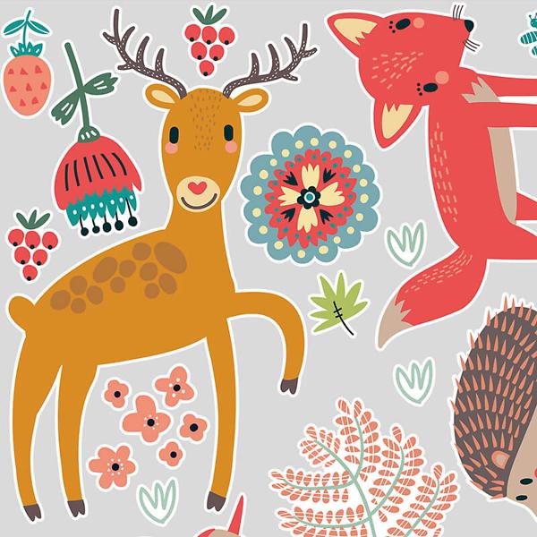 Наклейки животных на стену в детскую
