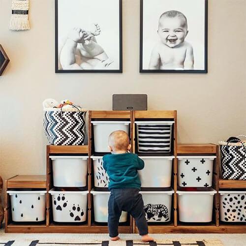 Ящики для хранения игрушек в детской комнате