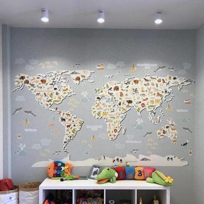 Карта Мира в детскую комнату Большая