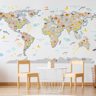 Карта Мира без фона 230х130 см  - фото 2