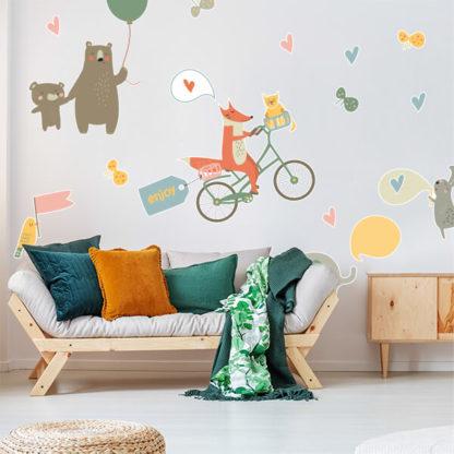 Животные детские на стену