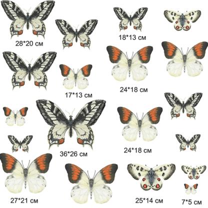 Наклейки на стену Бабочки состав