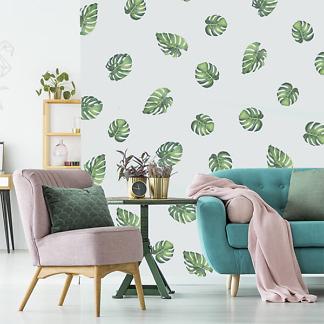 Наклейки на стену листья