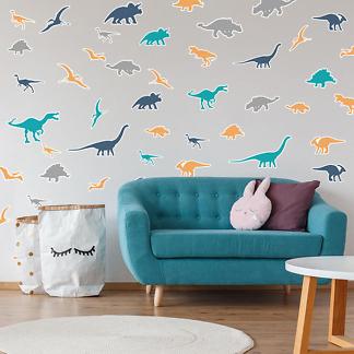 наклейки на стену динозавры