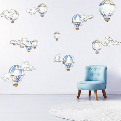 наклейки на стену воздушные шары