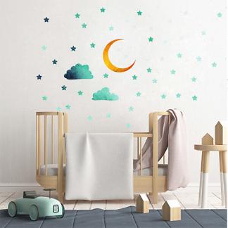 Наклейки на стену Звезды и Луна в детскую