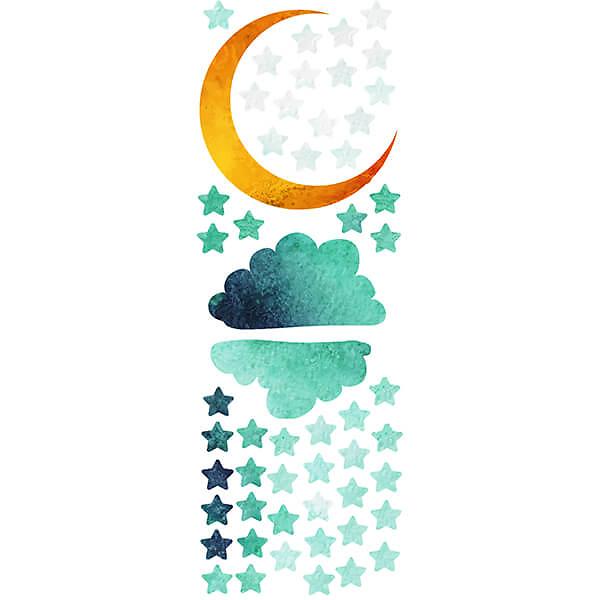 Наклейки Звезды и Луна в детскую