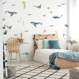 Рыбки наклейки на стену