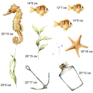 Рыбки наклейка  - фото 2