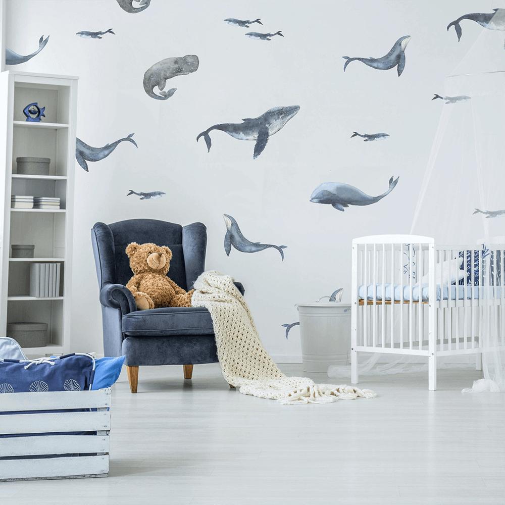 наклейки на стену рыбки