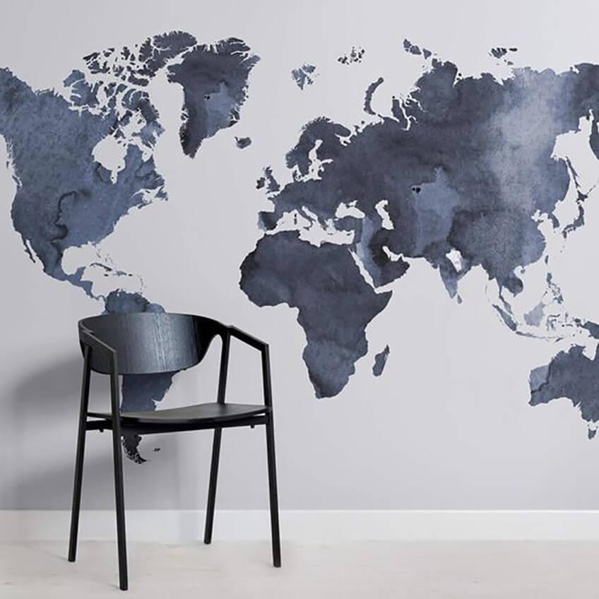 Наклейки на стену карта мира