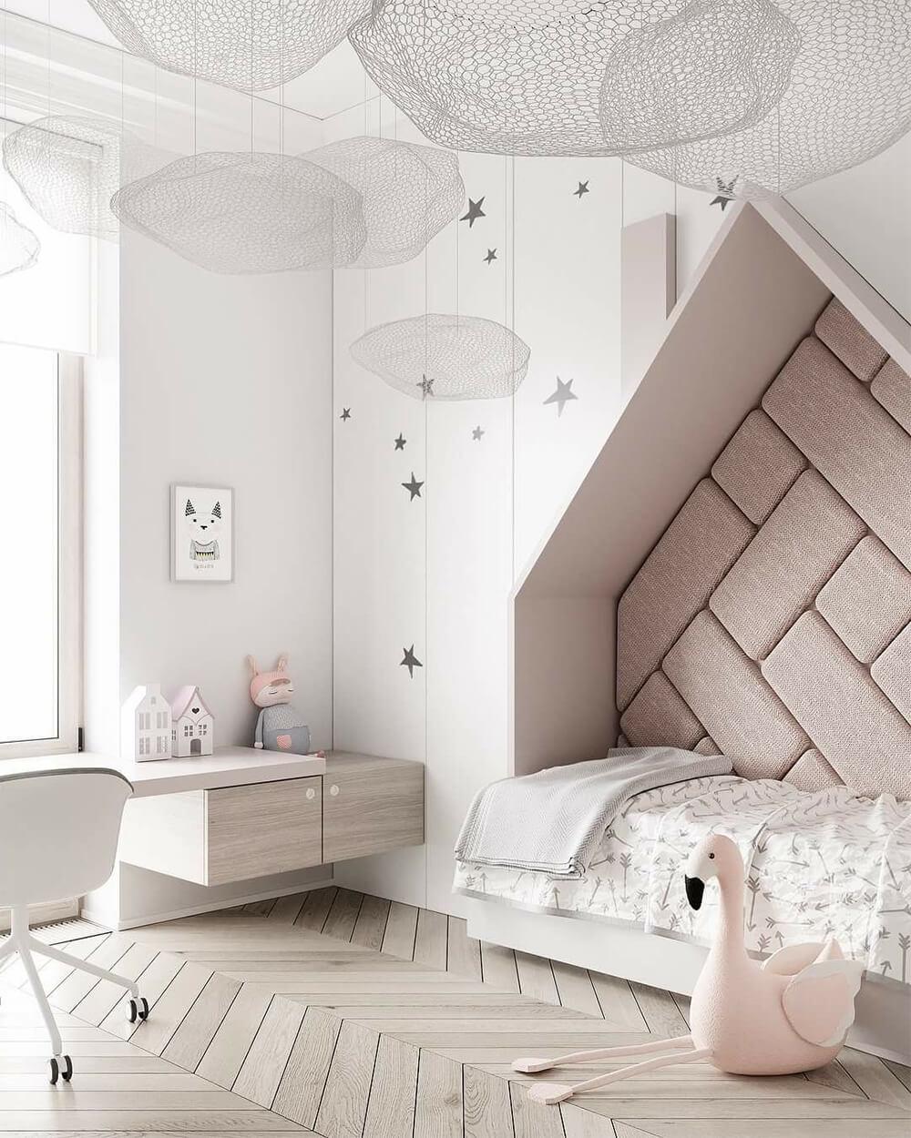Оформление стен детской в современном стиле