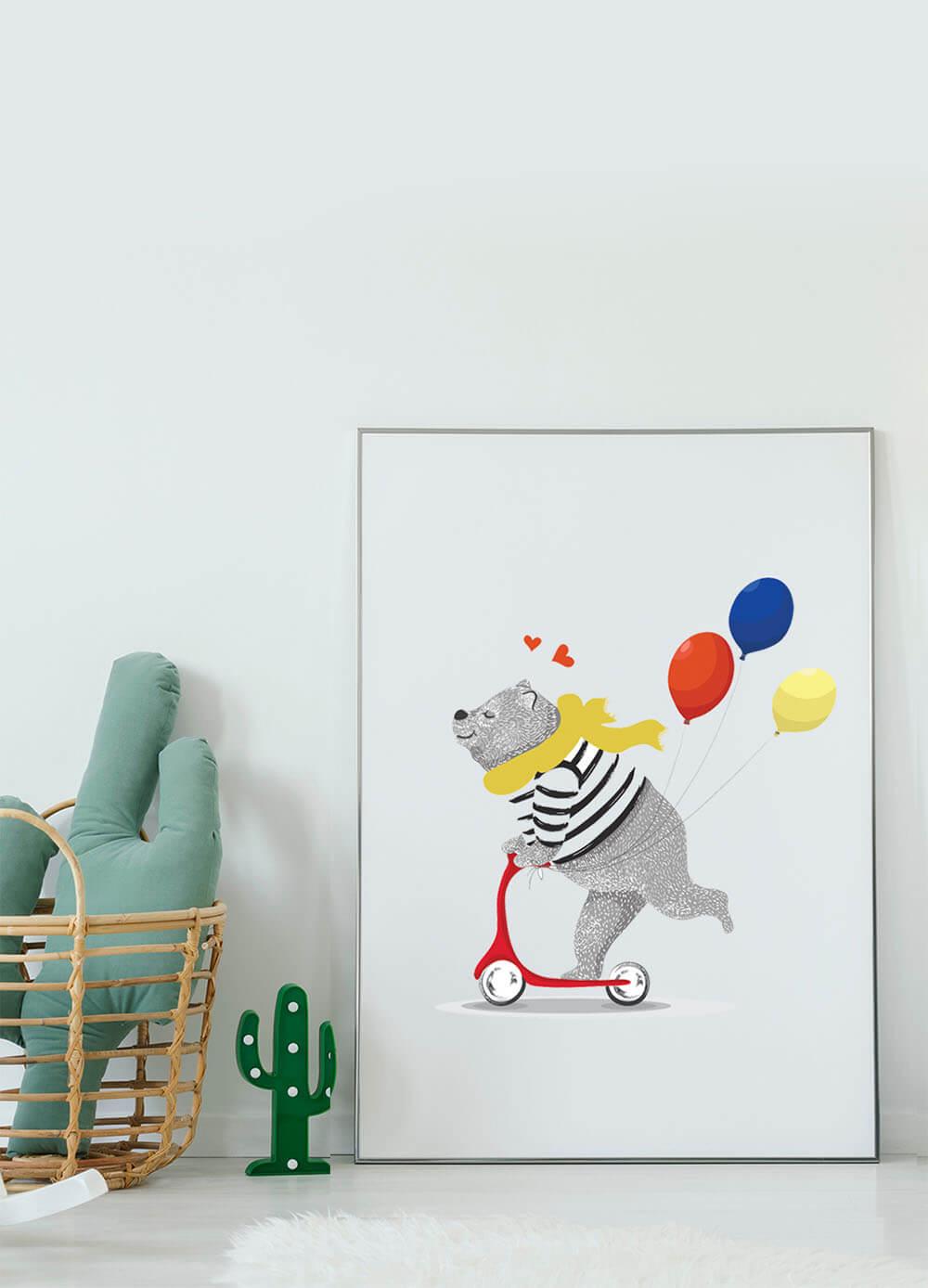 Постер с животными в детскую