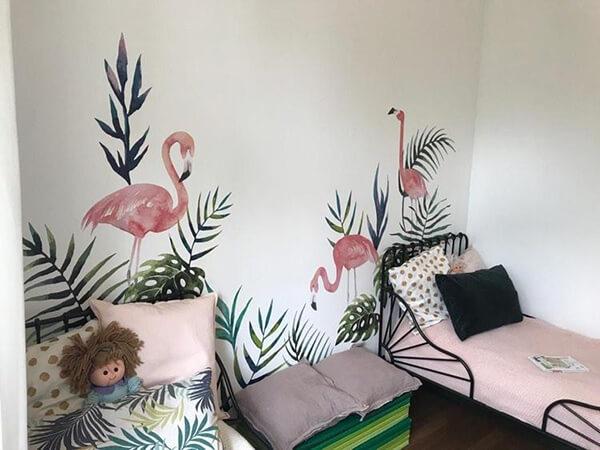 отзыв о наклейках тропические листики вместе с фламинго