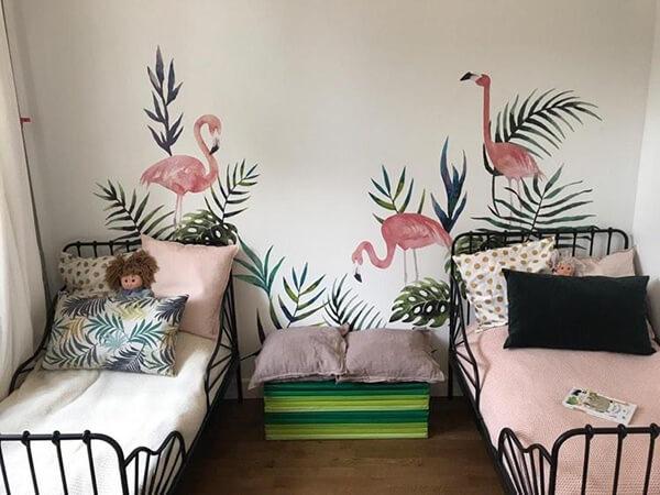 отзыв о тропических листиках наклейках и фламинго
