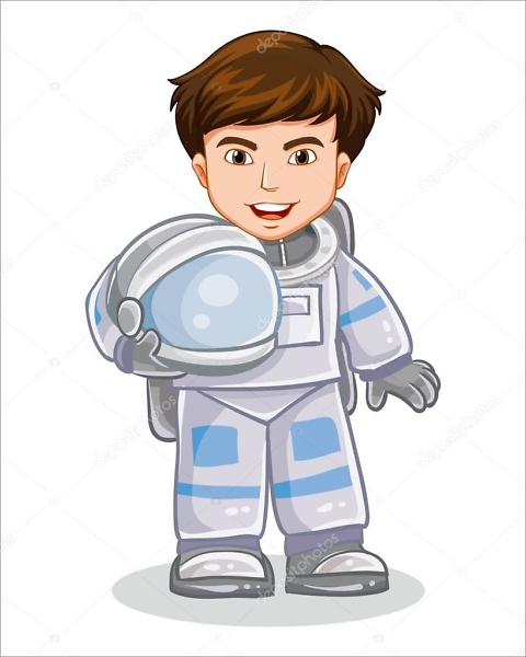 Наклейка Космонавт