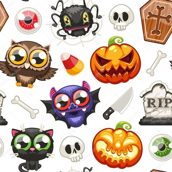 Наклейка Хэллоуин  - фото
