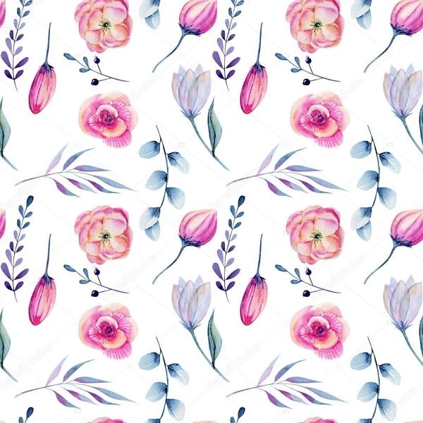 Наклейка цветы розовые