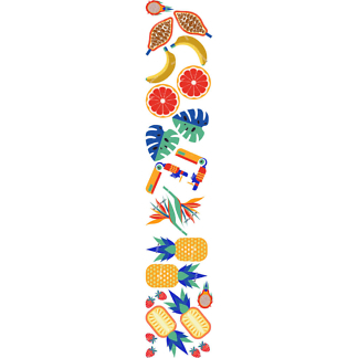Наклейка фрукты тропические  - фото 2