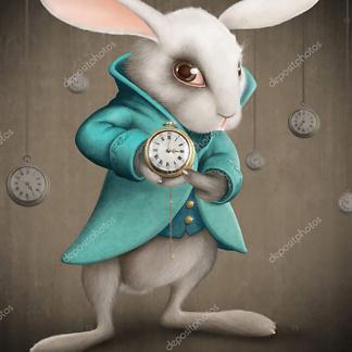 Кролик в разноцветных очках