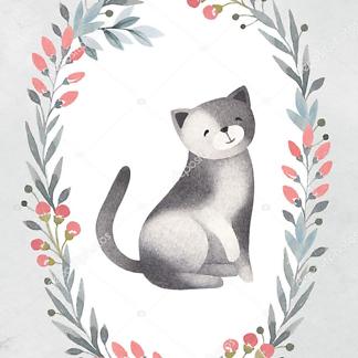 Кошка в цветочной раме — 7