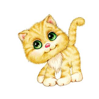 Постер Котенок с зелеными глазами