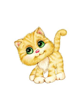 Постер Котенок с зелеными глазами  - фото
