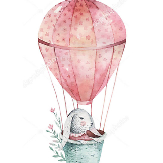 Кролик на воздушном шаре