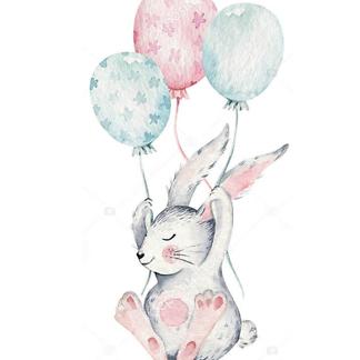 Постер Кролик с шариками