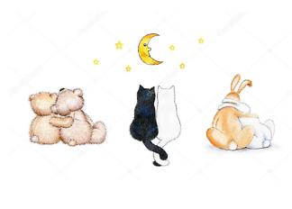 Постер Пары животных  - фото