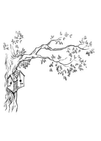 Постер Птичий домик на дереве  - фото