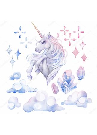 Постер Единорог в облаках  - фото
