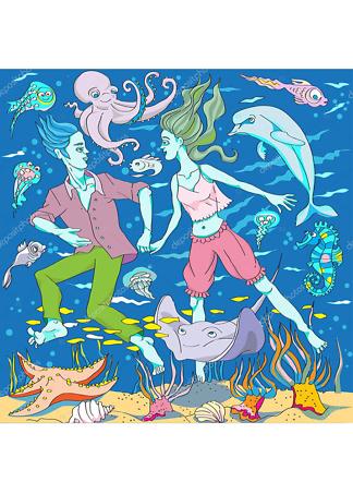 Постер Морская пара  - фото
