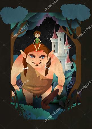 Постер Мальчик и лесной троль  - фото