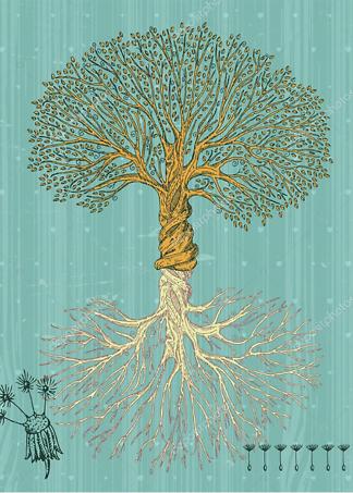 Постер Винтажное дерево  - фото