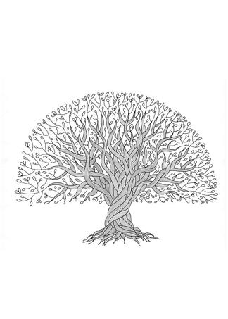 Постер Изящное дерево  - фото