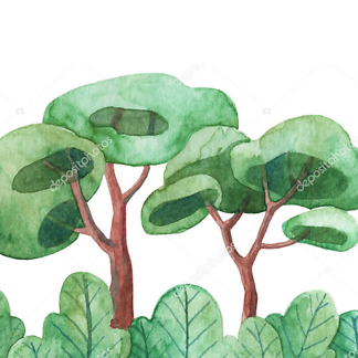 Постер Акварельное дерево  - фото