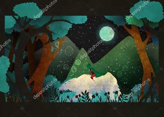 Постер Девушка на белом медведе  - фото