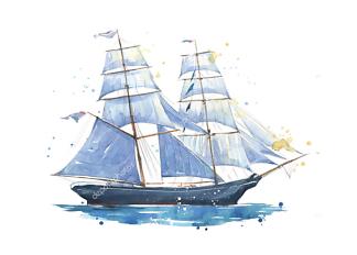 Картина Парусник  - фото