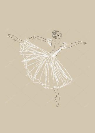 Постер Балерины в карандаше  - фото