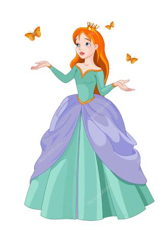 Постер Принцесса с бабочками  - фото