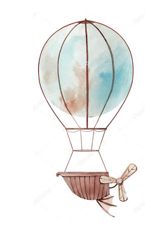 Картина Воздушный шар голубой  - фото