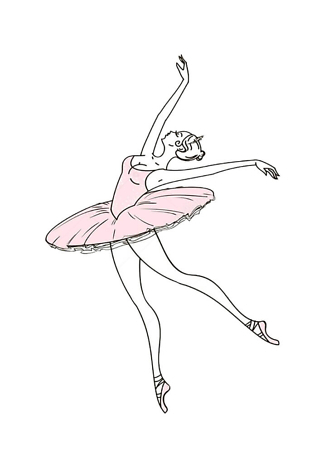 Постер Танец балерины  - фото