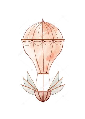 Картина Воздушный шар розовый  - фото