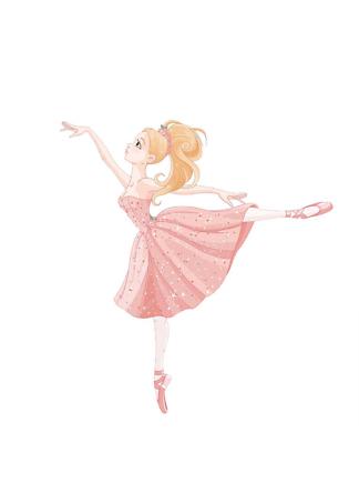 Постер Балерина в розовом  - фото
