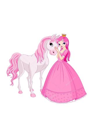 Постер Принцесса с лошадью  - фото