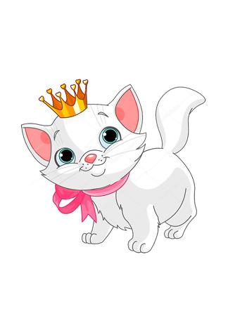 Постер Кошечка в короне  - фото
