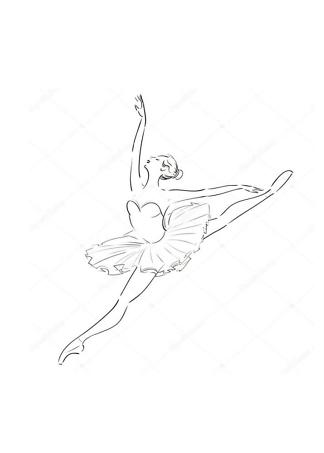 Постер Эскиз балерины  - фото