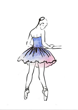 Постер Балерина в голубом  - фото