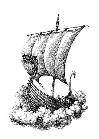 Картина Корабль варягов  - фото